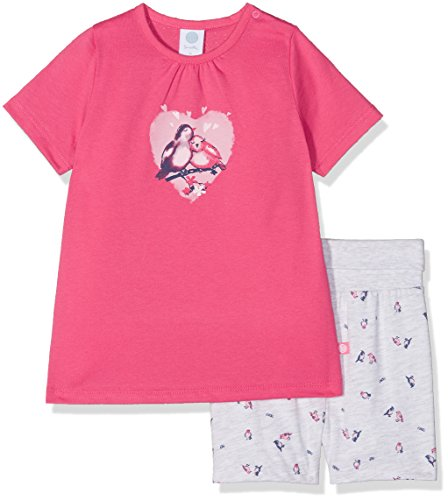 Sanetta Baby-Mädchen Zweiteiliger Schlafanzug 221398, Rosa (Kiss 3834), 92