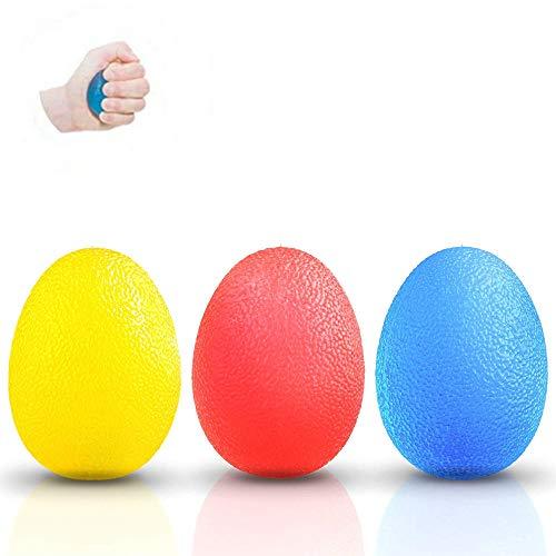 Handtrainer Griffbälle,3 Pack Eiförmige Griffbälle Handtrainer Gel Squeeze Bälle Eiförmig Griff-bälle für Arthritis Stressabbau Schlaganfall Rehabilitation Erholung -