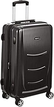 AmazonBasics 24 inch 68 cm Hardshell Check-in Size Suitcase, Slate Grey