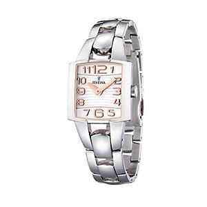 Reloj de mujer FESTINA F16462/2 de cuarzo, correa de acero inoxidable de Festina