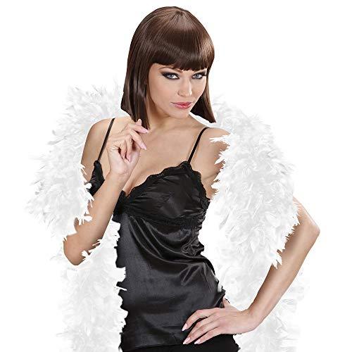 WIDMANN Sancto 0366W boa de plumas alrededor de 180 cm, blanco