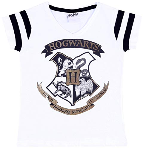 Weißes T-Shirt für Mädchen, Harry Potter T-Shirt 10 Jahre