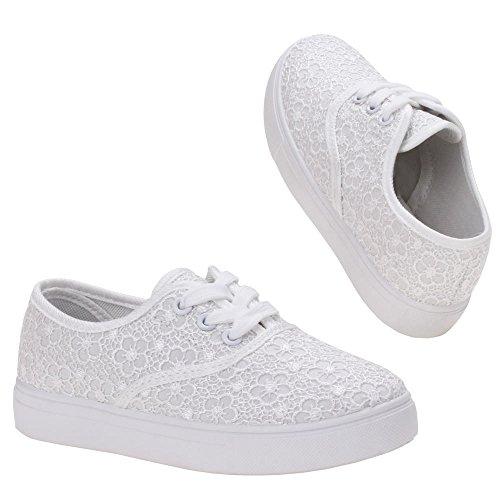 Mädchen Schuhe, K-21-1, FREIZEITSCHUHE Weiß M