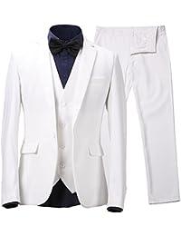 Harrms Hommes Costume d'affaires polyester&fibre svelte 3 pièces pour costume + gilet + pantalon Taille EU44 ~ EU54 Pour Travail, fêtes, mariages