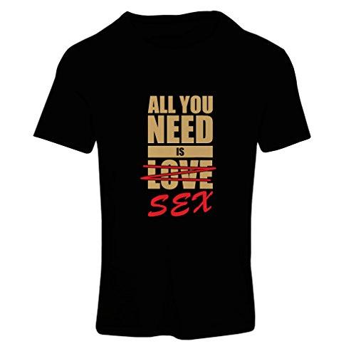 N4150F Tout ce que je besoin est ...., t-shirt femelle s humoristique, Grand cadeau Black Gold