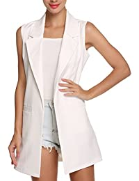 Laixing Buena Calidad Women's Fashion Sin mangas chaleco largo Slim Fit Chaleco de moda Long Coats Vest