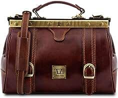 95064d7199c Tuscany Leather Monalisa Bolso de Doctor en Piel con Hebillas Frontales