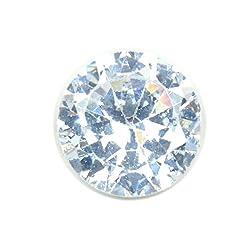 55Carat Cubic Zircon Stone 6 Ratti Round Jarkan Loose Gemstone White