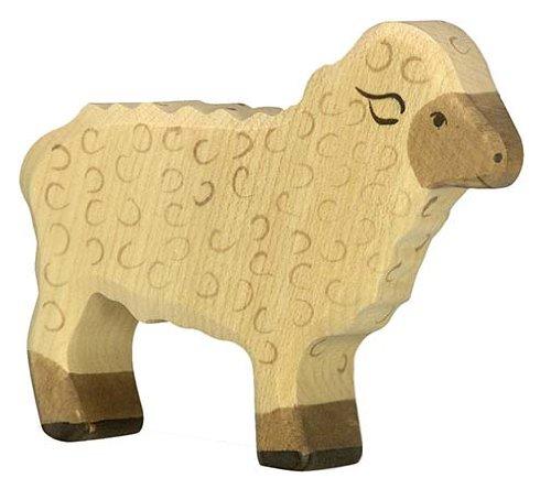 Holztiger Schaf, stehend, 80073 -