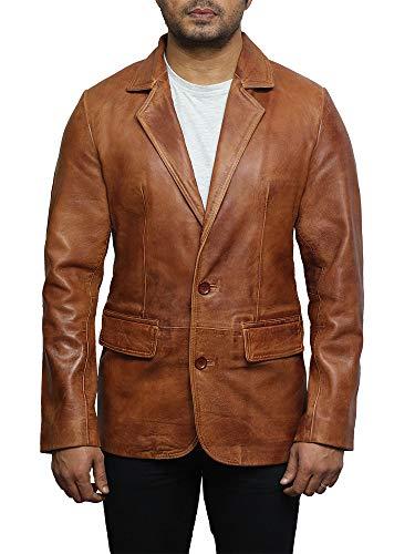 ischen Leder Blazer Jacken weich und elegant leicht gewachst echtes Leder BNWT (Medium) ()
