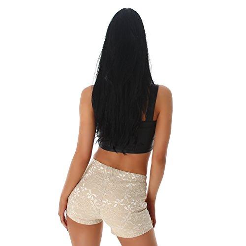 PF - Short de sport - Slim - Femme Beige