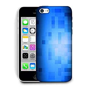 Snoogg Blue Blocks Pattern Design Printed Protective Phone Back Case Cover For Apple Iphone 6+ / 6 Plus