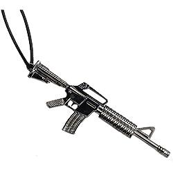 pendentif fusil m16 mitraillette carabine acier noir Sons Of Anarchy Paintball airsoft Us Usa