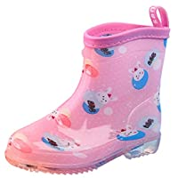 GEMVIE Toddlers Wellies Wellingtons Kids Cute Cartoon Non Slip Rain Boots Waterproof Wellington Boots