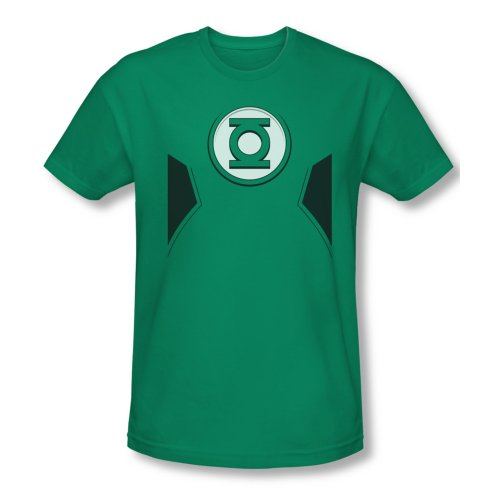 DC Comics Justice League America New Green Lantern Kostüm Erwachsene T-Shirt Kelly Green Medium grün