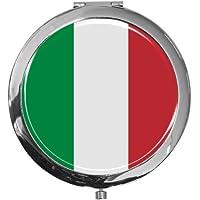 """metALUm - Extragroße Pillendose in runder Form""""Flagge Italien"""" preisvergleich bei billige-tabletten.eu"""