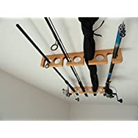 FishingRack.eu Hölzerner Angelrutenhalter/Gestell - Decke ist/Handgefertigt gestiegen