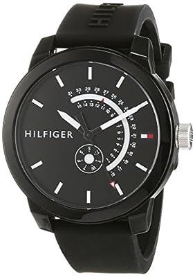 Tommy Hilfiger Reloj Analógico para Hombre de Cuarzo con Correa en Silicona 1791483