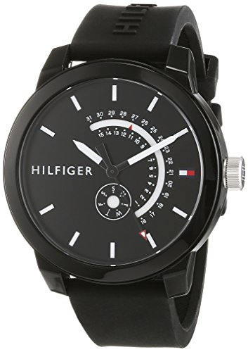 Tommy Hilfiger Mixte Analogique Quartz Montre avec Bracelet en Silicone 1791483