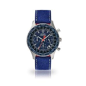 DETOMASO Firenze Reloj Caballero Cronógrafo Analógico Cuarzo Azul Correa