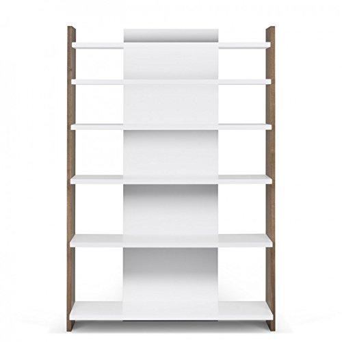 Paris Prix - Temahome - Bibliothèque Bounce 6 Niveaux 187cm Noyer & Blanc