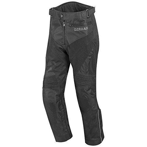GERMAS motocicleta Pantalones/Verano Pantalones Outback, Negro, Tamaño XL