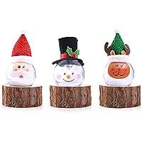 AOLVO - Bombilla de Bola de decoración navideña de plástico Teepao con Adornos de árbol de