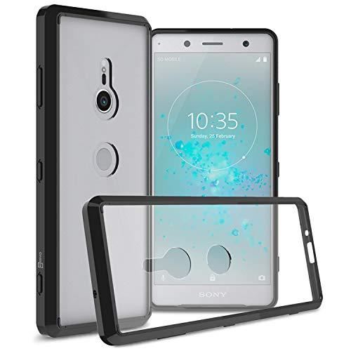 CoverON ClearGuard Series Schutzhülle für Sony Xperia XZ3 (durchsichtig, Schlankes Design, Transparente Rückseite, TPU-Bumper), schwarz (Boost Mobile Sony-handys)