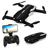 Drones with Camera 1080P for Adults,JJRC H71 Foldable Drone with Optical Flow Altitude