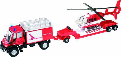 Mondo Motors - 58006Carabinieri - Véhicule Miniature - Modèle À L'Échelle - Mercedes-Benz Unimog U500 Hélicoptère - Carabinieri - Echelle 1/40