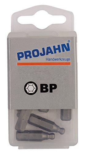 'Projahn 2782 - 10 Lot de 10 embouts à tête sphérique 1/4 longueur 25 mm 2,5 mm