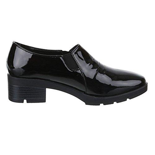 Damen Schuhe, TH515, HALBSCHUHE SLIPPER Schwarz