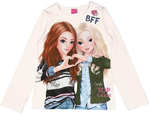 Top Model Mädchen Langarm Shirt Lexy & Christy 85027 Ecru, Beige, 128