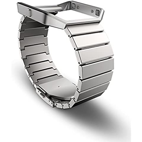 Fitbit Blaze - Pulsera de eslabones de acero inoxidable