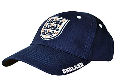 New Official Football Team Baseball Cap's (England (Navy Stripe)) by England FC (Beanie Visor Head)