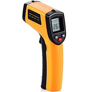 GRDE® Thermometre Infrarouge Laser Digital Testeur, Grand Plage,Distance au point ratio: 12:1 (d: s) Portable pour Vous (-50 ~ 380℃(-58 ~ 716℉))