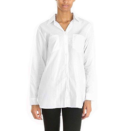 By Swan-Camicia in cotone, motivo Onime di colore Bianco