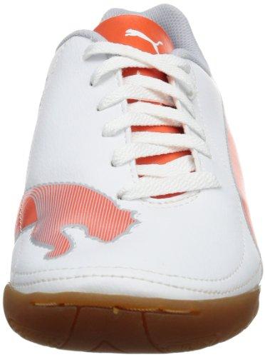 Puma Velize II IT Jr 102989 Unisex-Kinder Fußballschuhe Weiß (white-cherry tomato-gray dawn 01)