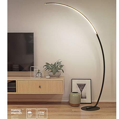 Zh lampade da terra led zanflare, lampada da terra ad arco classica con paralume a sospensione per soggiorno, camera da letto, ufficio den, lounge,