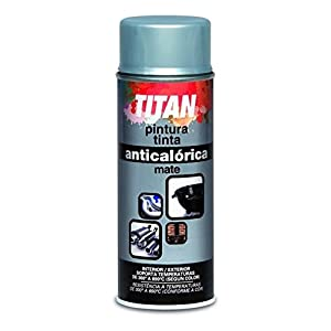 Titan S09030240, Pintura Spray Anticalórica, Negro mate, 400 ml