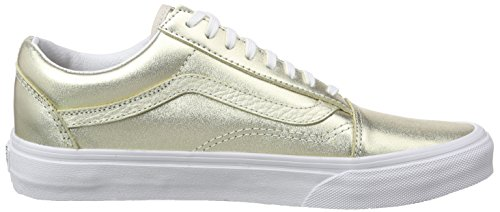 Vans Old Skool Zip - Scarpe da Ginnastica Basse Unisex – Adulto Oro (metallic Leather/wheat Gold/true White)