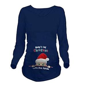 Q.KIM Camiseta de Maternidad Ropa