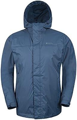Mountain Warehouse Chaqueta impermeable al aire libre para hombre con capucha Torrent