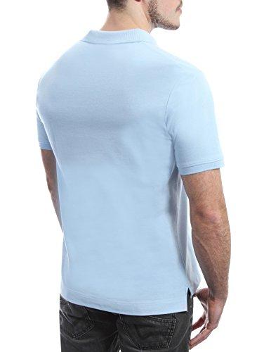DETIME Herren Poloshirt Hellblau