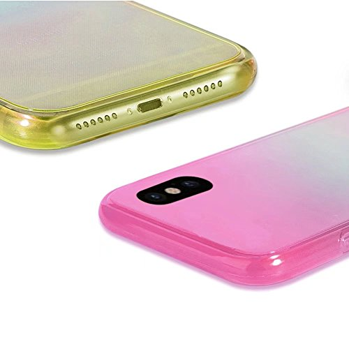 QianYang Cover iPhone X, Case iPhone X, Custodia iPhone X,Ultra Sottile Anti-Graffio e Resistente Caso Custodia Trasparente Morbida di TPU per Apple iPhone X da 5.8 pollici Trasparenza TPU-9