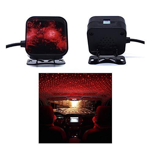CONRAL Auto Atmosphäre Licht, stichhaltige Sprachsteuerungsautoinnenraum USB LED Laser Fernstern Himmel Lichtprojektor mit mehrfachen Modi für Auto-Innendach-Deckendekoration, Partei, Ausgangsraum (Partei-lichter Laser)