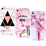 YKTO Coque Apple iPhone 4 (2010) / iPhone 4s(2011) 3.5 Pouces Belle Marble Coque...