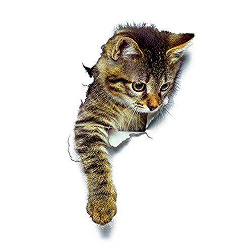 pu ran niedlichen 3D Katze Wand Kunst Aufkleber Home Dekoration Bad WC Deckel Abdeckung Aufkleber - 3#