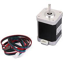 UEETEK Motor de pasos NEMA 17 2 fase 4 hilos 1,5 1,8 ° de 60 mm para impresora 3D
