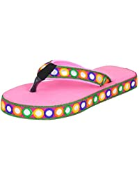 Jodhpuri Lates New Design Pink Flip Slipper For Ladies